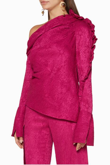 Fuchsia Belle Asymmetrical Top