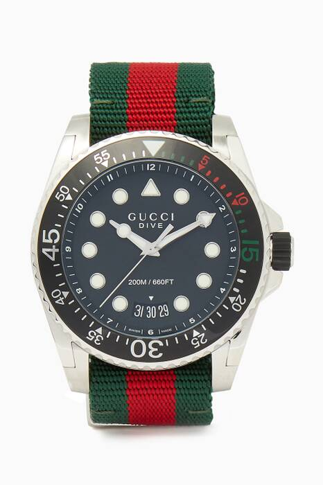 Red & Green Web Dive Watch