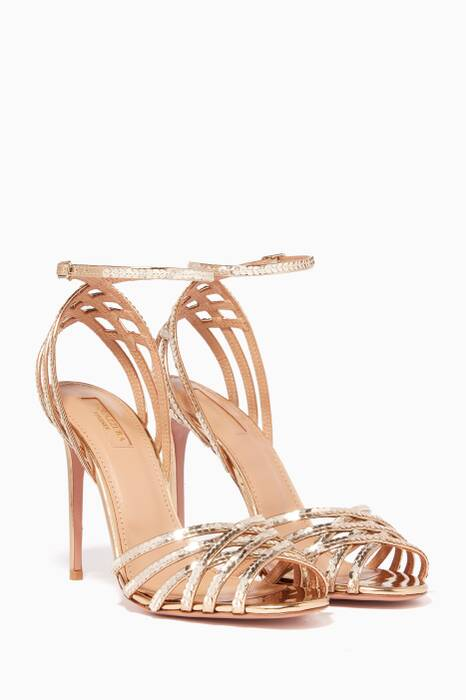 Gold Studio Sequin Sandals