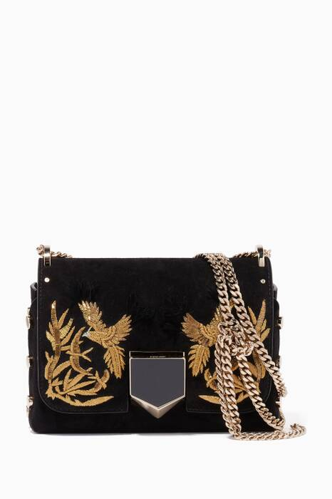 Black Lockett Petite Suede Shoulder Bag