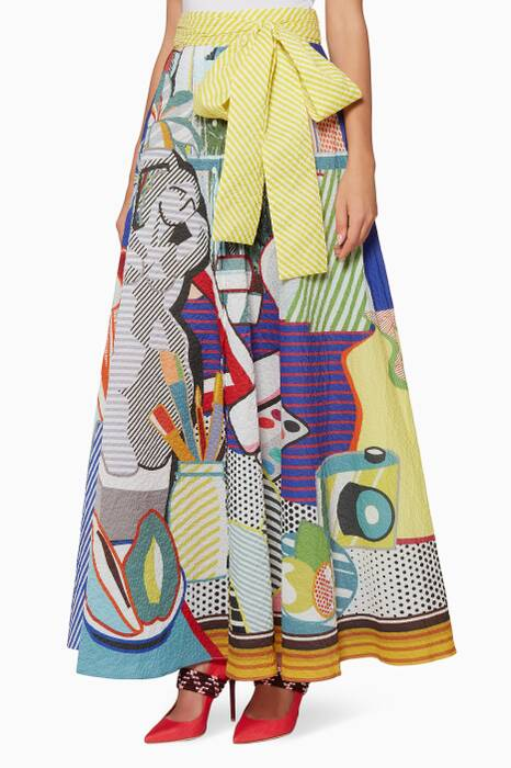 Multi-Coloured Camille Printed Skirt