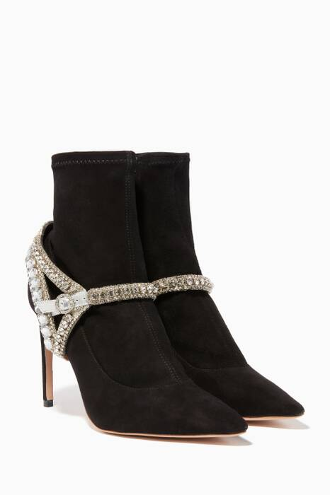 Black Lorena Stretch Booties