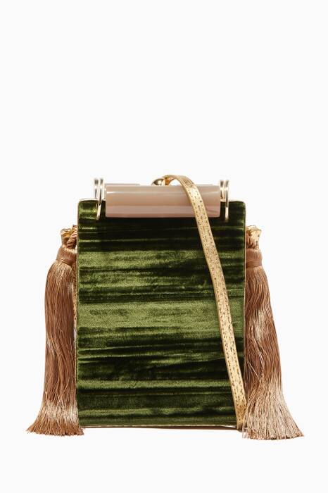 Dark-Green Kaya Marble Shoulder Bag