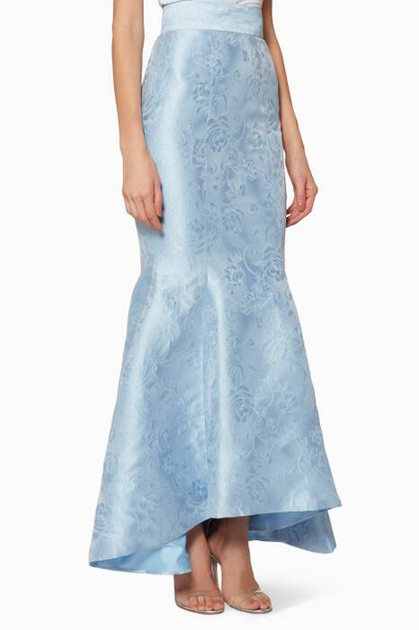 Light-Blue Georgia Maxi Skirt
