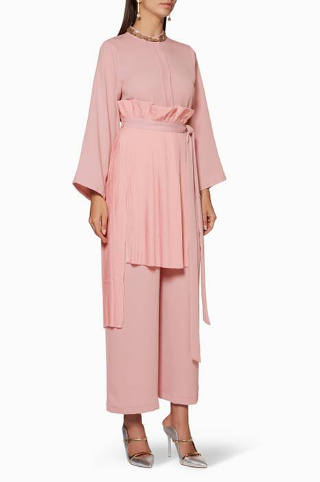 Light-Pink Panel-Detail Jumpsuit