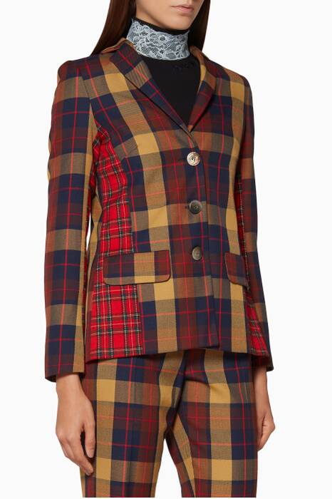 Multi-Coloured Check Tartan Jacket