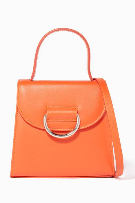 Orange Leather Little Lady D Bag