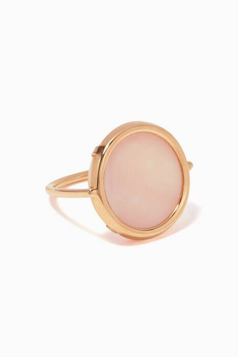 Rose-Gold & Pink Mother Of Pearl Ever Disc Ring