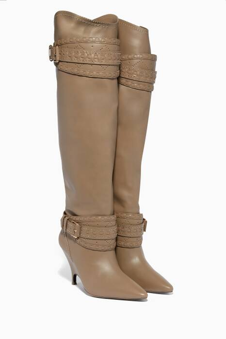 Sage Slouch Point-Toe Knee Boots