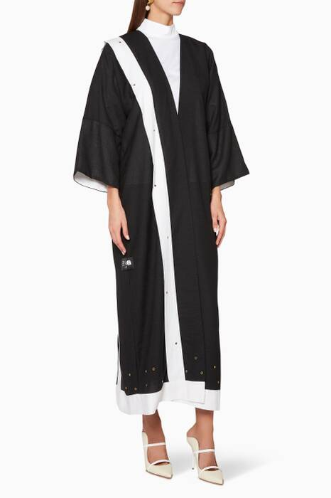 Black & White Panel Abaya