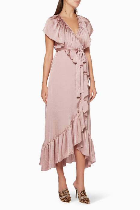 Light-Pink Thesa Wrap Dress
