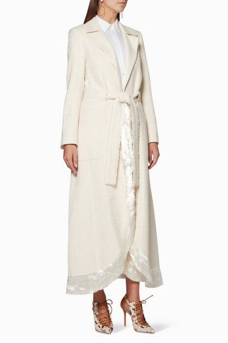 Ivory Fringed Kama Coat