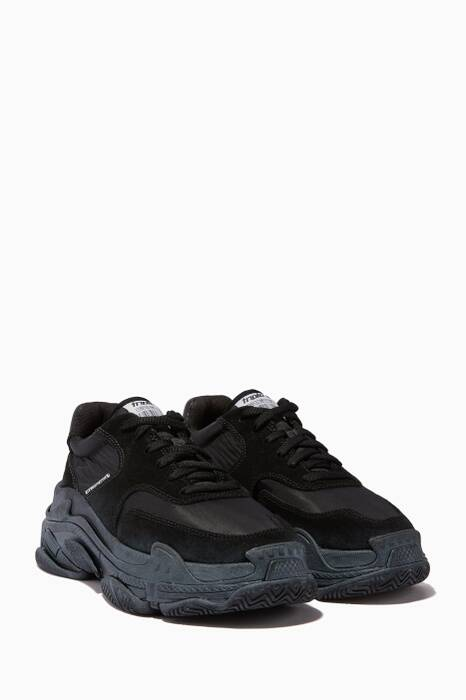 Black Triple S Chunky Sneakers