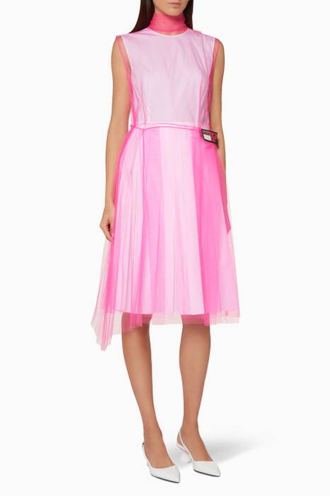 Bright-Pink Tulle Dress