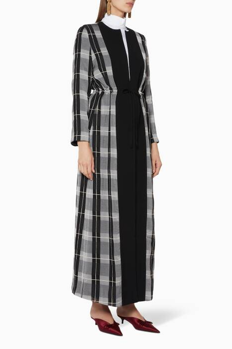 Black & White Checked Coat