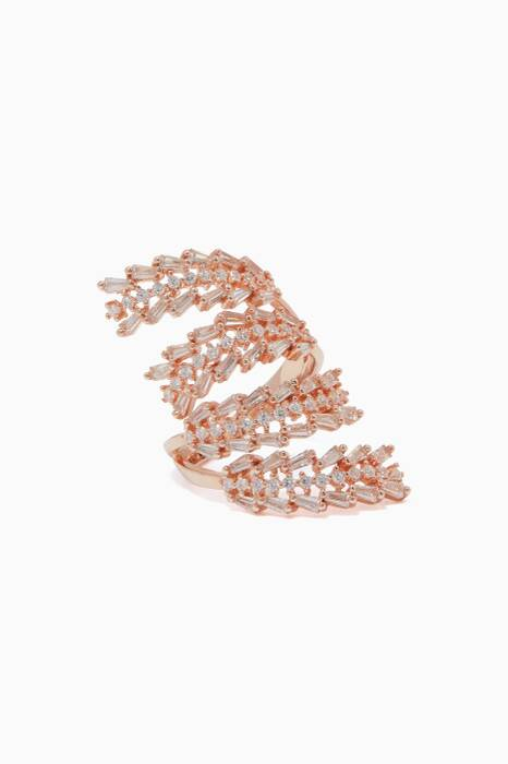 Rose-Gold Crystal-Embellished Ring
