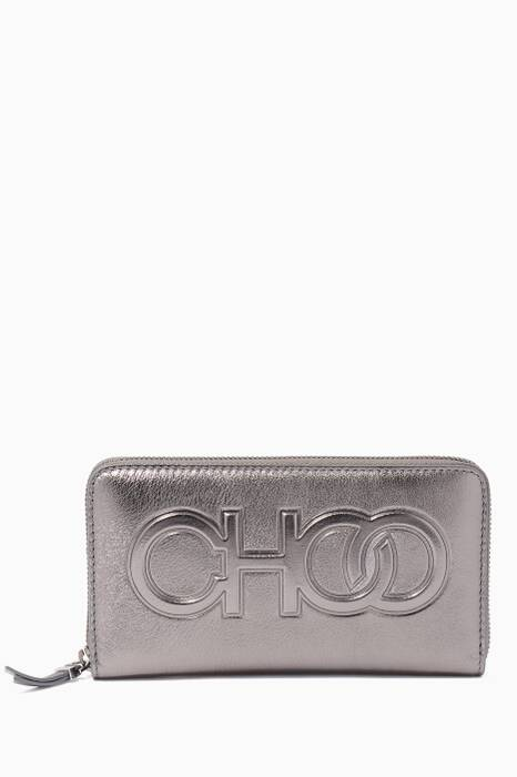Anthracite Bettina Large Zip-Around Wallet
