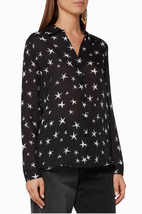 Black & Ivory Printed Nina Shirt