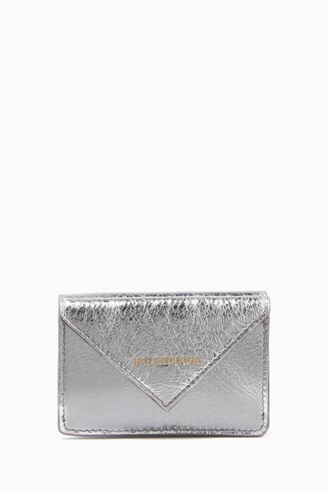 Silver Embossed Papier Mini Wallet