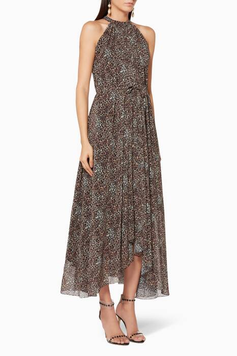 True-Leopard Halterneck Irina Dress