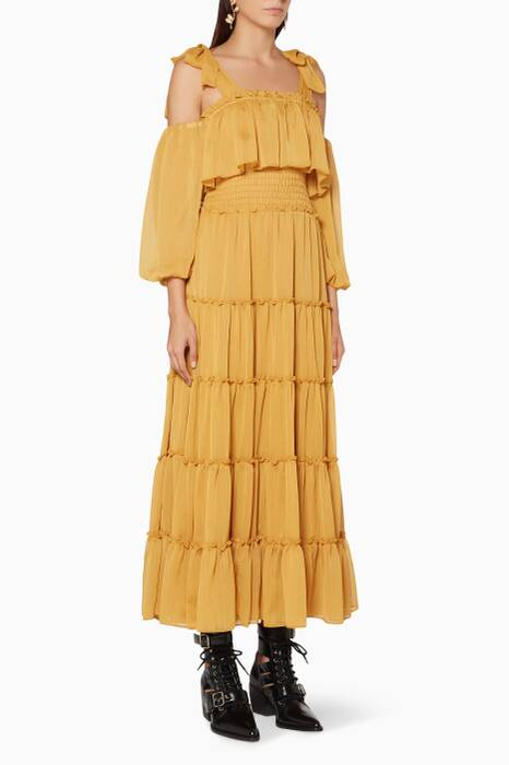 Mustard-Yellow Carmela Dress