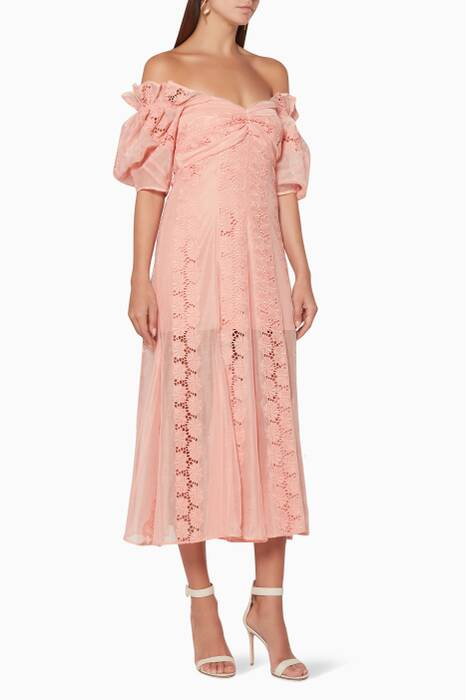 Rouge-Pink About You Midi Dress