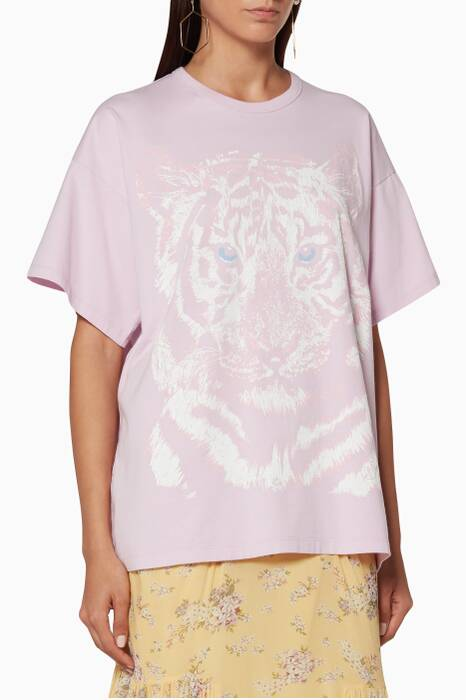 Flower-Lilac Tiger Logo T-Shirt