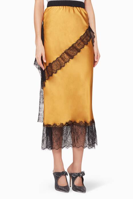 Yellow Lace-Trimmed Devotion Skirt