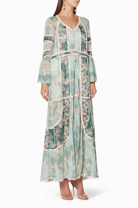 Nouveau-Blue Laetitia Oversized Dress