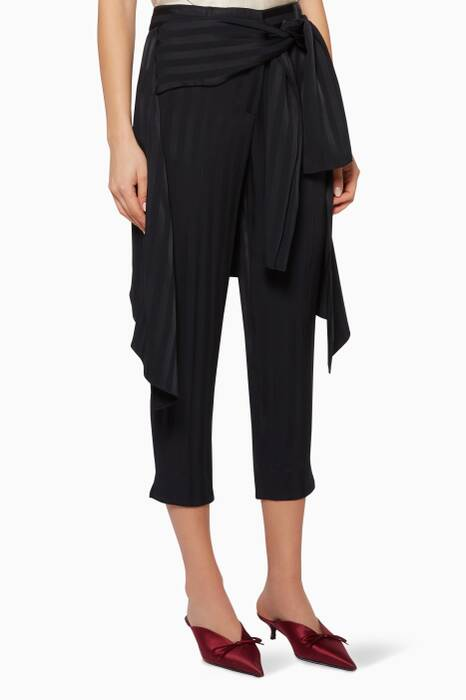 Midnight Sentry Wrap Boyfriend Pants