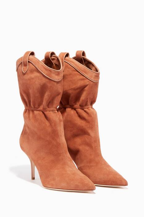 Brown Suede Daisy Boots