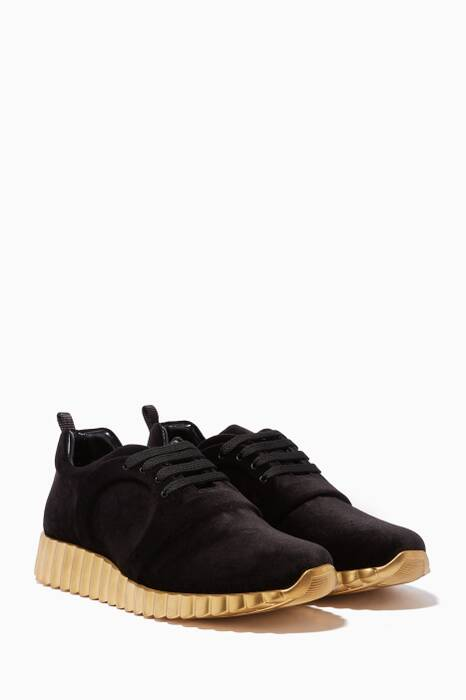 Black Wave Sole Sneakers