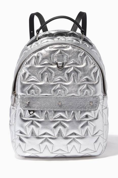 Silver Quilted Favola Backpack