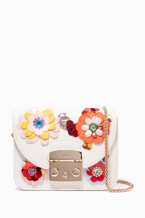 Petalo-White Metropolis Clivia Mini Cross-Body Bag