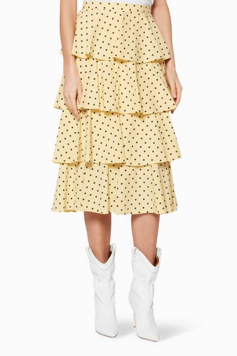 Lemon Polka-Dot Scarlet Skirt