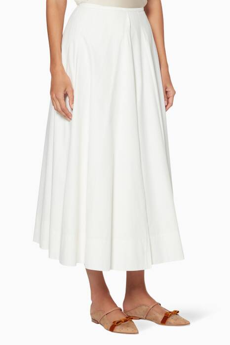 White Reversible Wrap Skirt