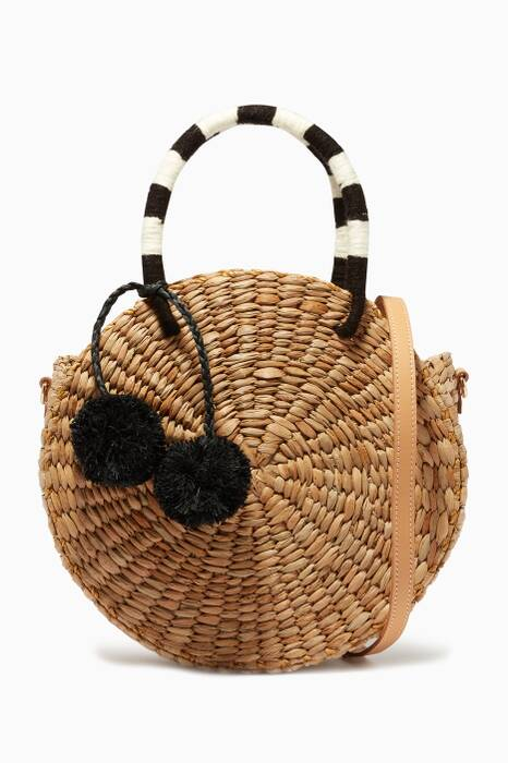 Natural Isabel Round Tote Bag