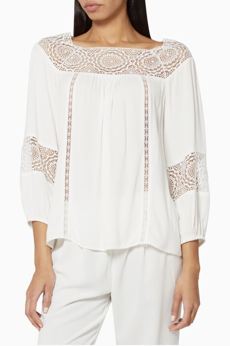 White Bellenge Lace Top