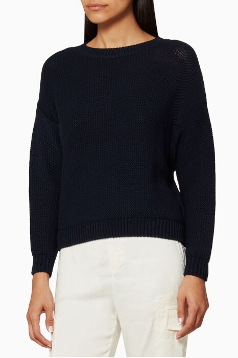 Navy Drop Shoulder Sweater