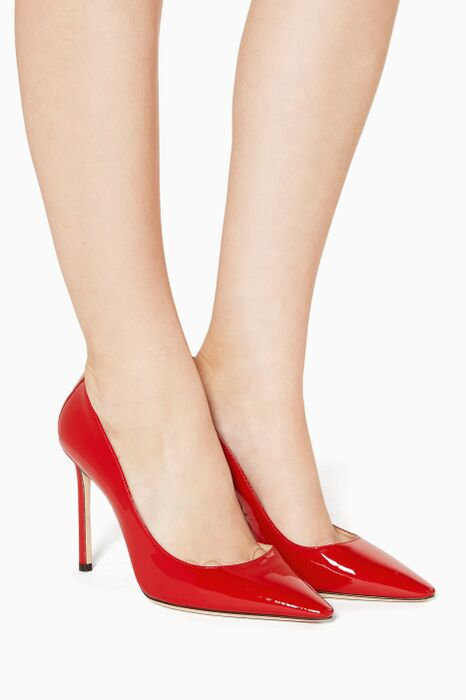Red Patent Romy Pumps