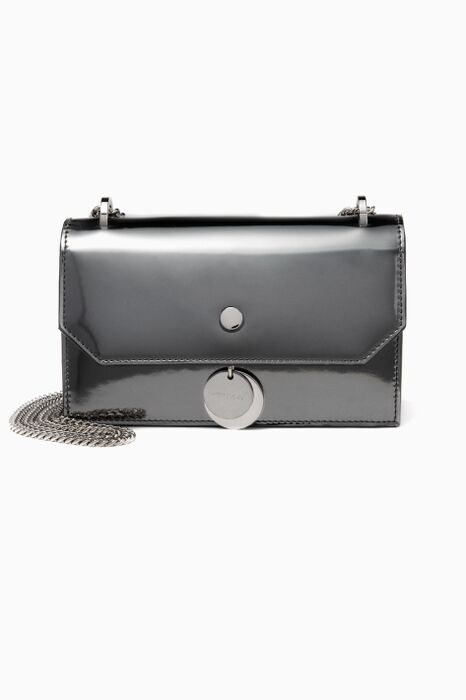 Dark Grey Finley Leather Cross Body Bag