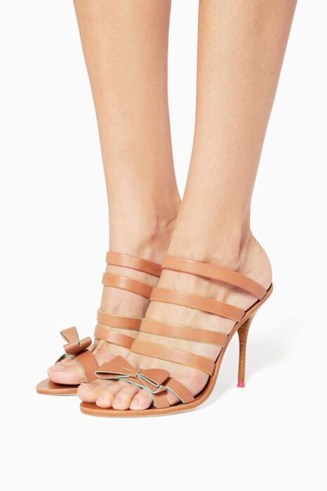 Brown Leather Samara Wedges