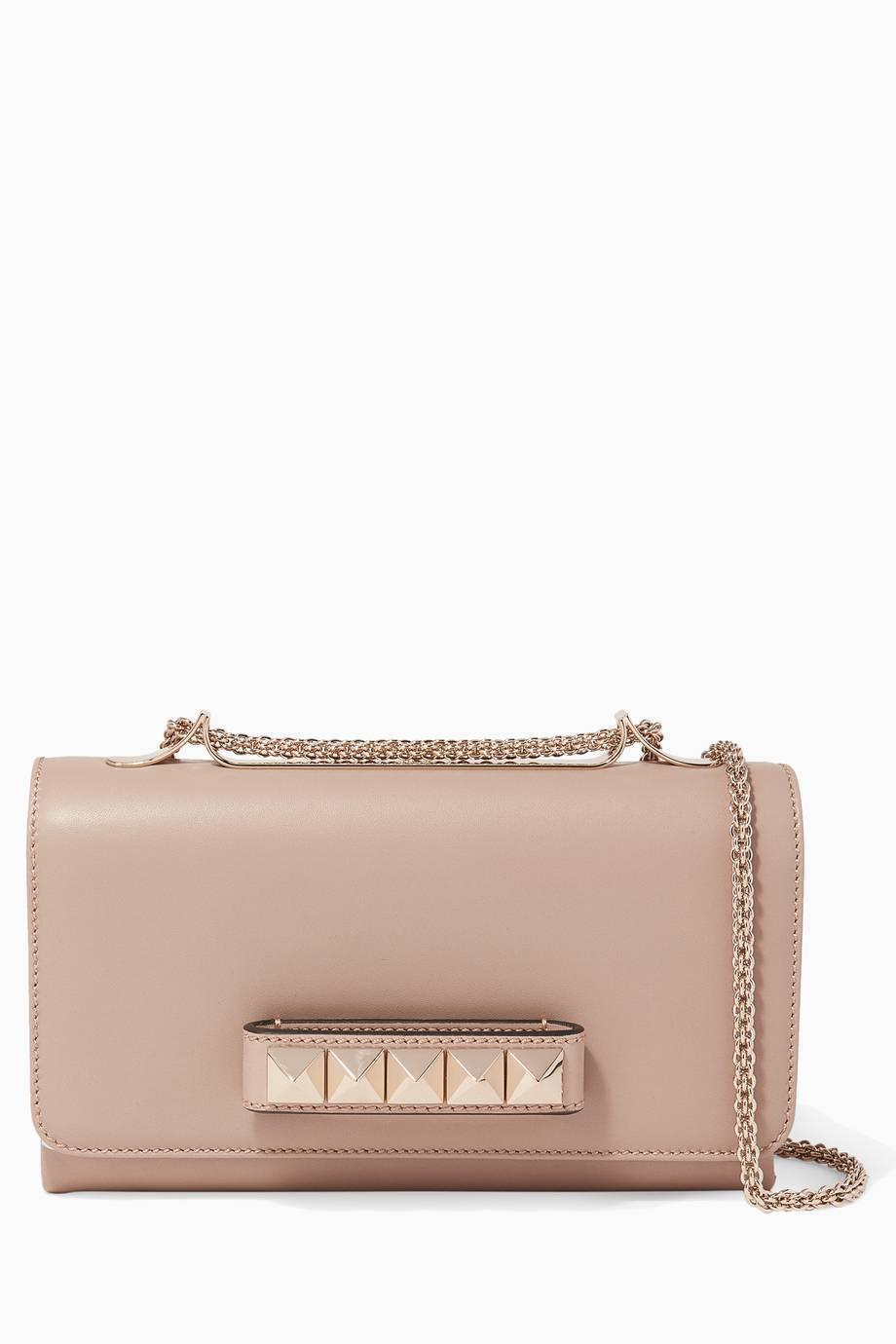 Shop Luxury Valentino Blush Va-Va-Voom Chain Shoulder Bag  7a690e1af80f7