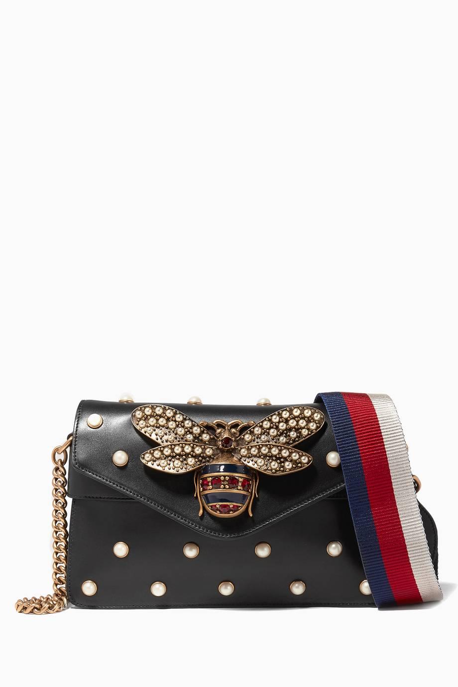 Shop Luxury Gucci Black Broadway Leather Chain Clutch  7fba4b0ae71b5