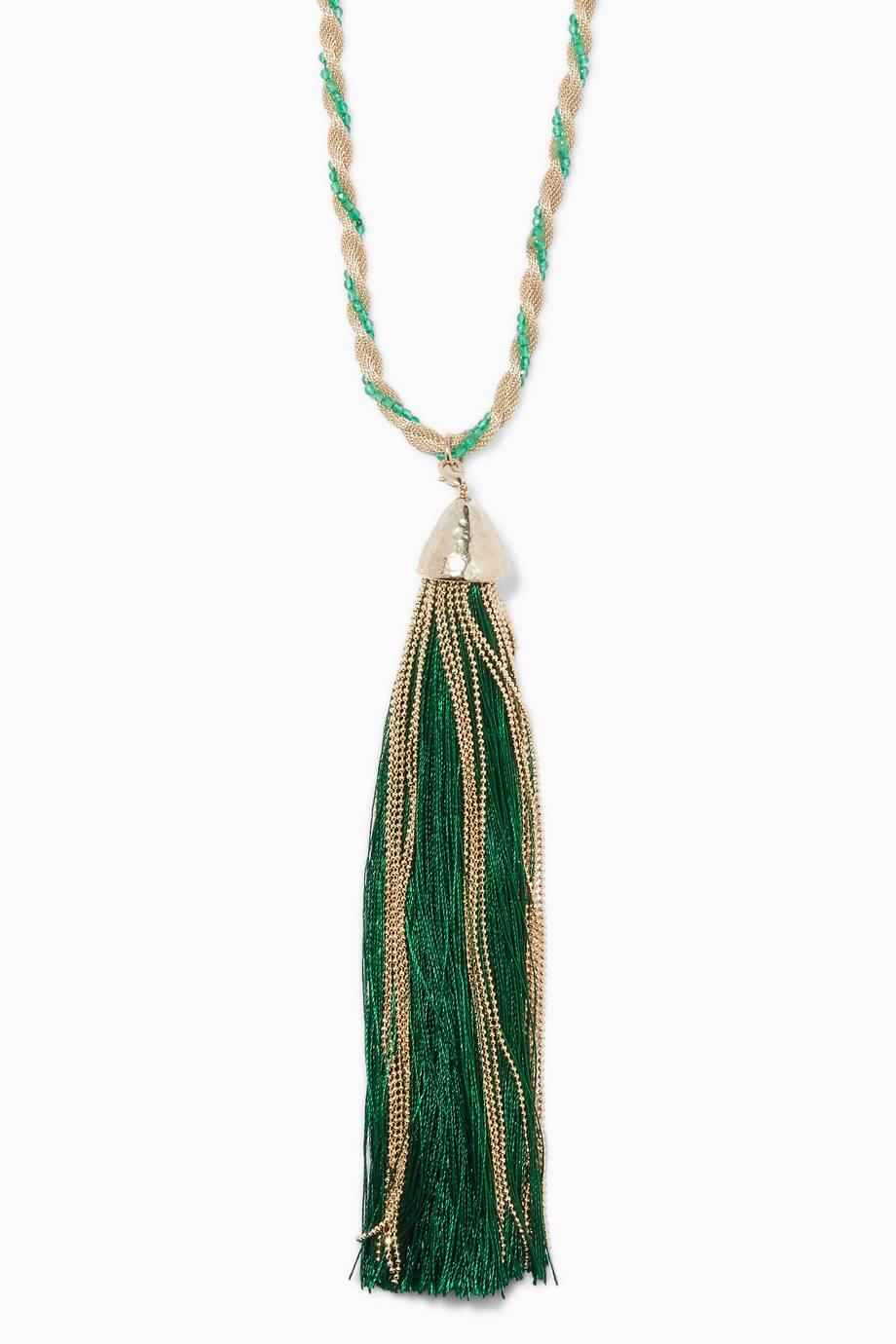 Emerald Twist Corda Necklace Rosantica