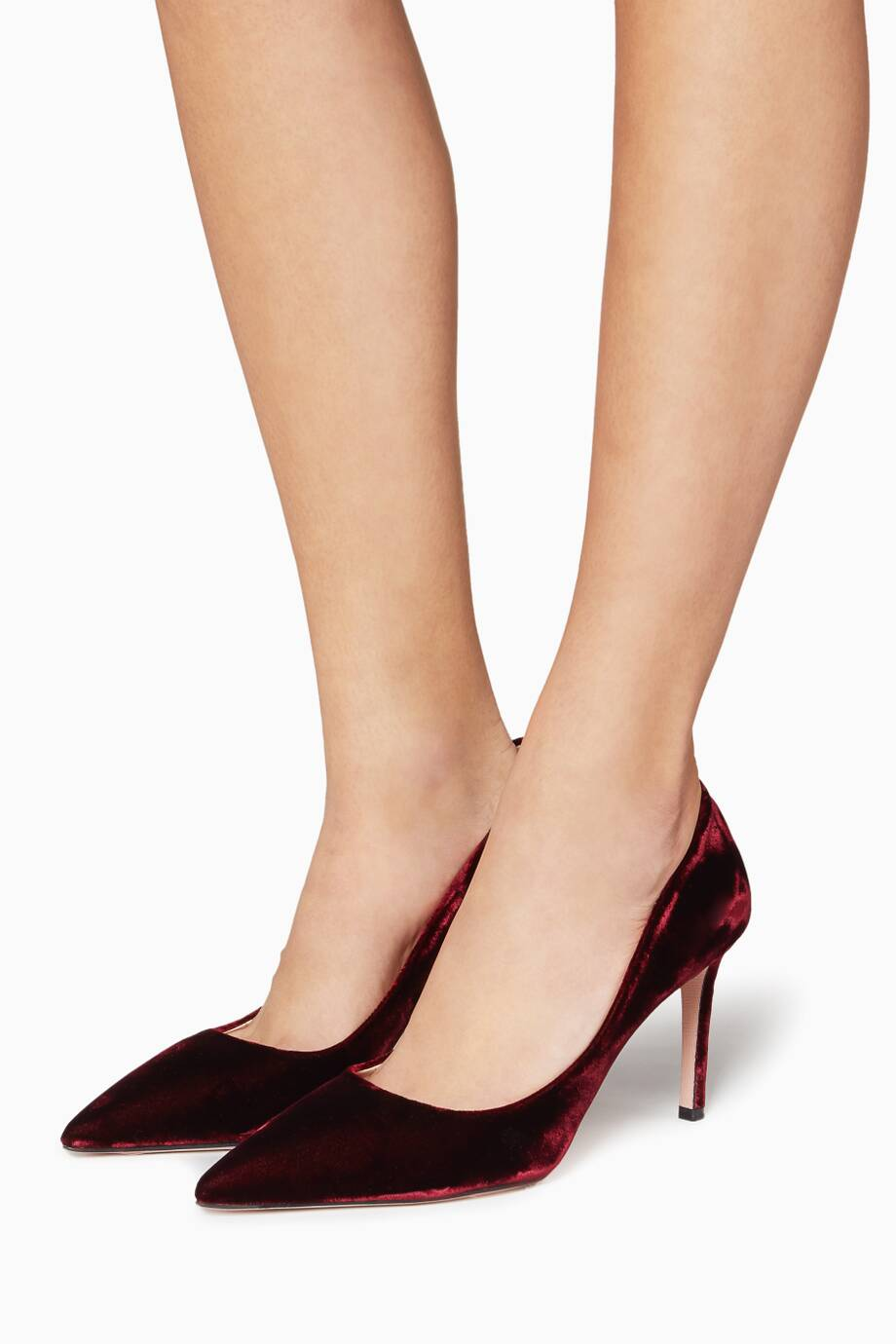 6f40c32fe44b0 تسوق حذاء كعب عالي مخمل بنفسجي من برادا