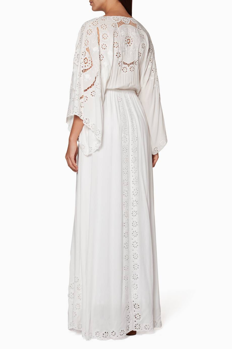 bed849fd0a4a9 Shop Luxury Fillyboo Ivory Cleo Duster Maxi Dress | Ounass Bahrain