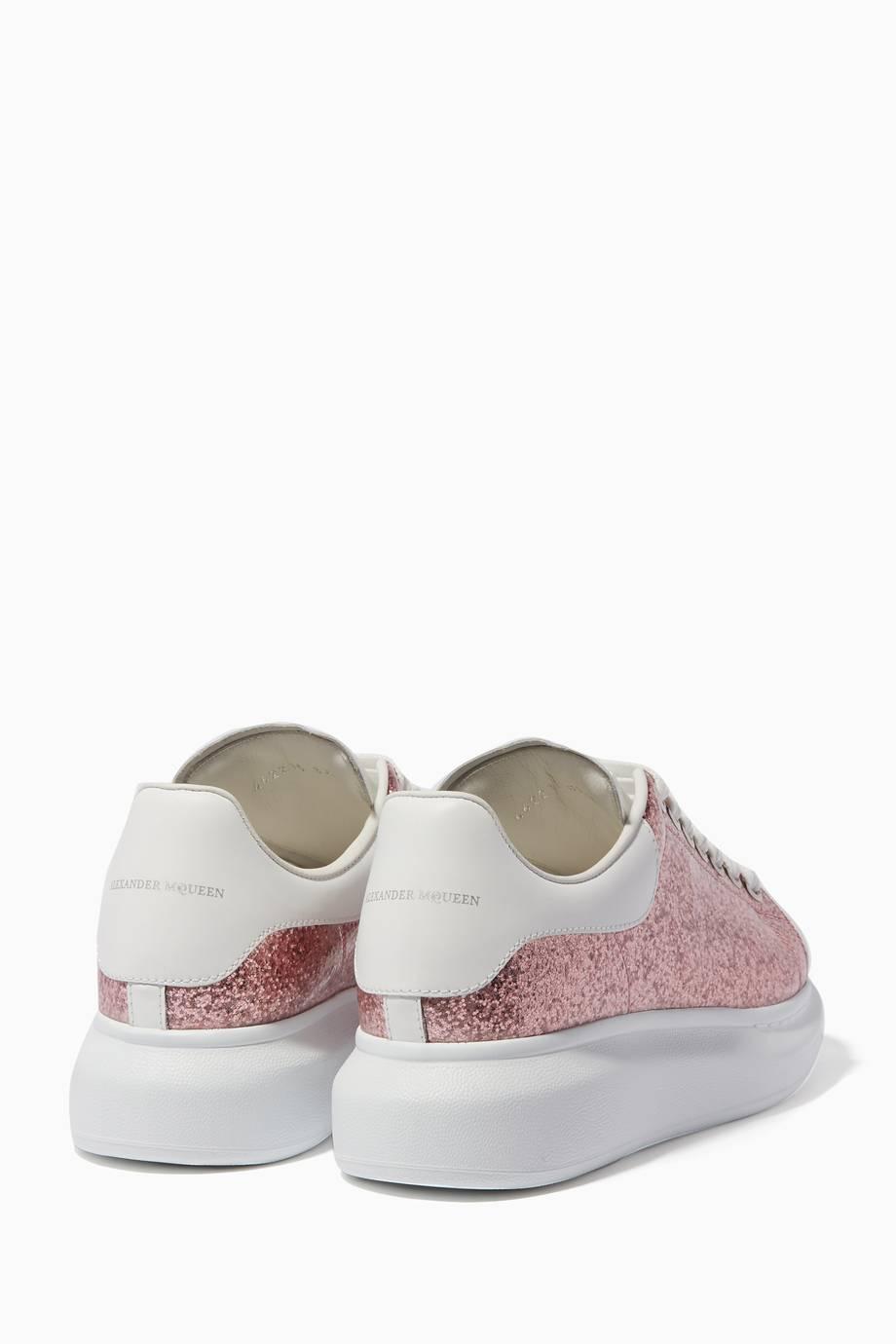 Shop Luxury Alexander Mcqueen Pink Glitter Platform