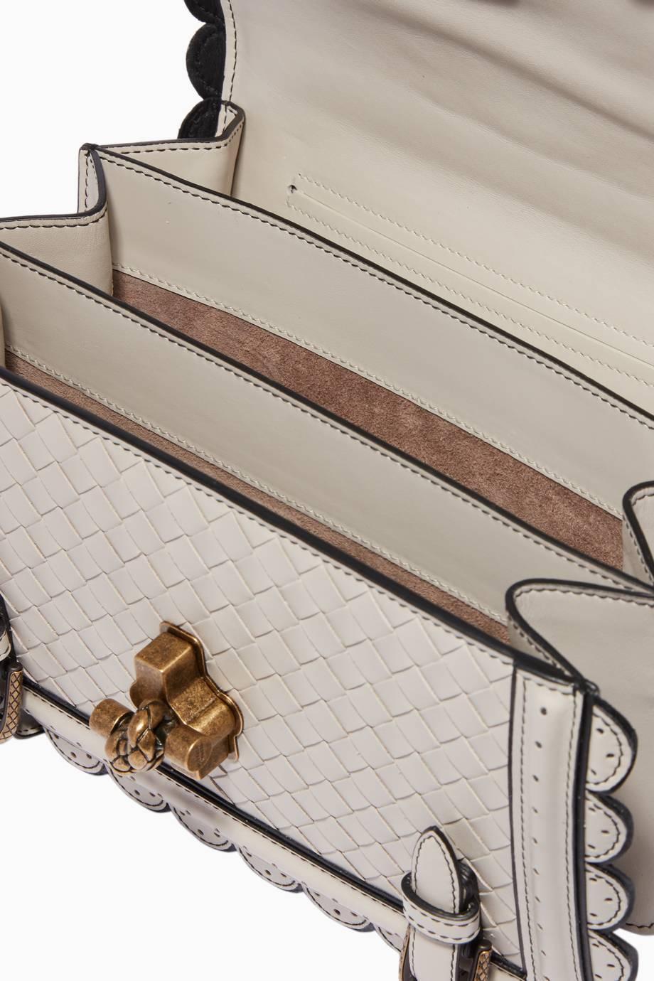 86f9dadedc Shop Luxury Bottega Veneta Grey Intrecciato Wingtip City Knot Bag ...