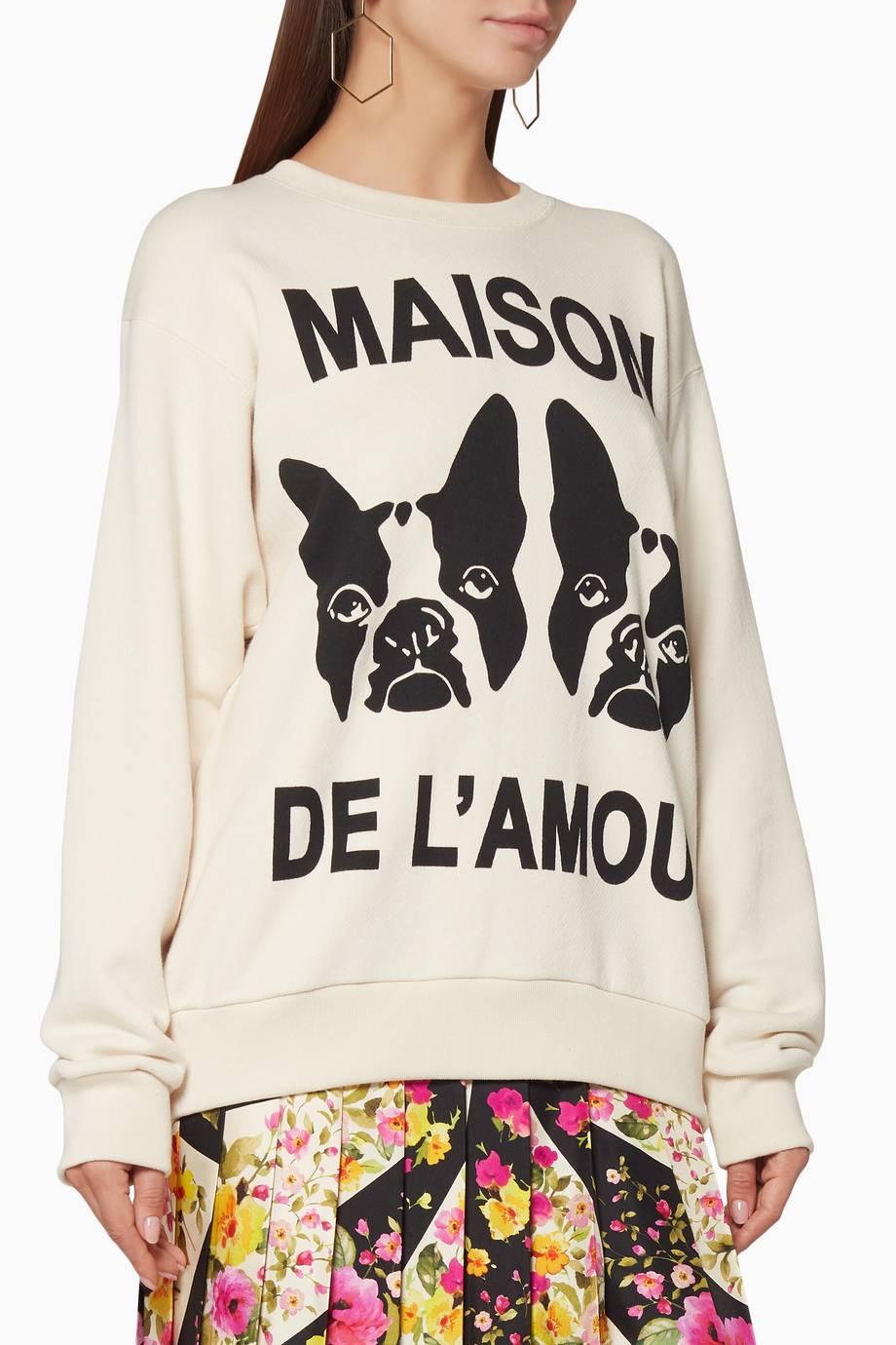 b30bcca6253 Shop Luxury Gucci Off-White Oversized Bosco   Orso Sweatshirt ...
